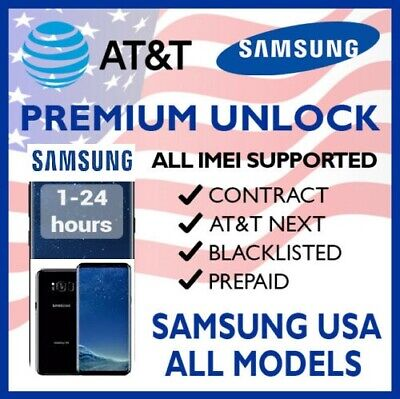 AT&T Cricket SAMSUNG GALAXY Note 9 Amp Prime J3 J2 S9 S8 S7 S6 S5 S4 UNLOCK CODE