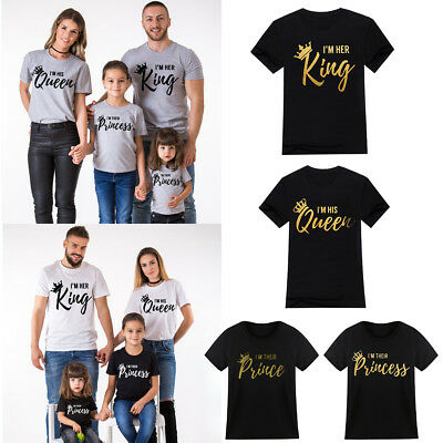 Family Look Matching Shirt Father Mother Daughter Son T-shirt King Queen Clothes