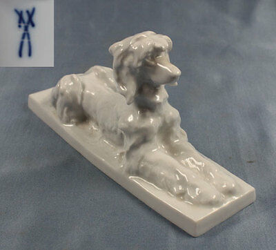 afghan hound dog  figurine Meissen rare and perfect  porcelain