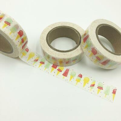 WASHI TAPE 15mm x 10m - Ice blocks & Ice creams