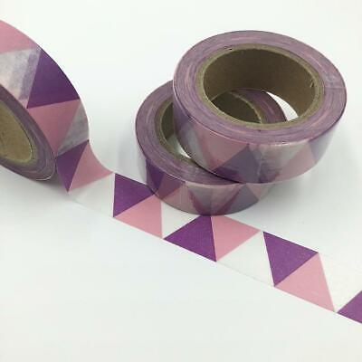 WASHI TAPE 15mm x 10m - Purple shade triangles