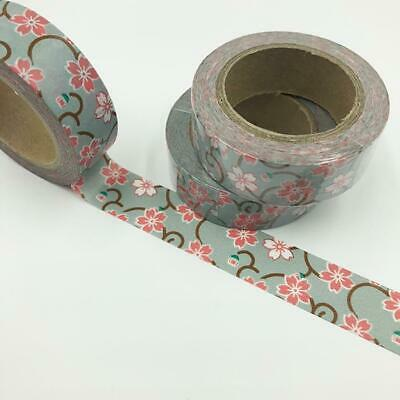 WASHI TAPE 15mm x 10m - Japanese flower