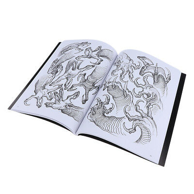 190Pages Dragon Claw Tatouage Flash Art Designs Manuscrit Sketch Line Book