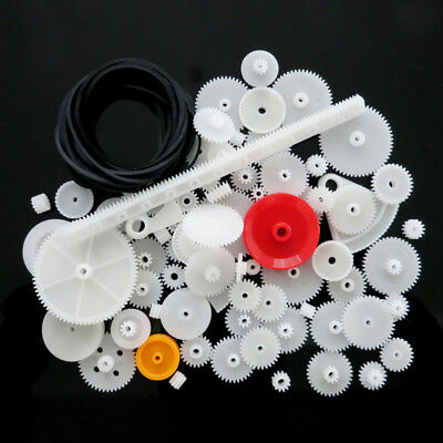 81x 0.5 Assorted Teeth Plastic Gears Wheel For Toy Car Motor Shaft Model Crafts
