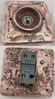 NEW Vintage Industrial Copper 1 Gang Faceplate (for Wall Boxes) - BS EN Approved