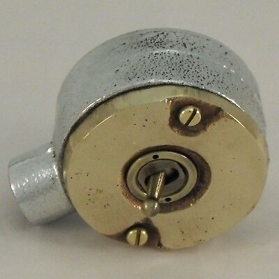 NEW SPECIAL Bronze & Cast Metal Vintage Industrial Light Switch - BS EN Approved