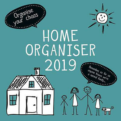 Home Family Organiser 2019 Wall Calendar (Gifted Stationery) Free Post