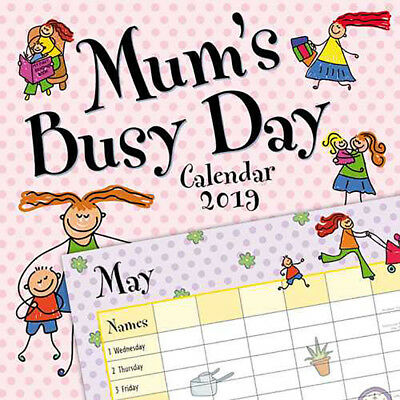 Mum's Busy Day Organiser 2019 Wall Calendar (Gifted Stationery)