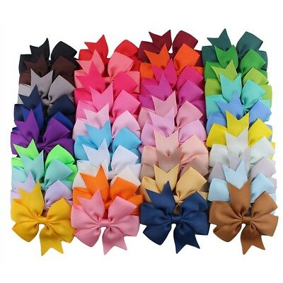 40pc LOT Cute Baby Girls Big Hair Bows Alligator Hair Clips-Baby Girl Gift Set