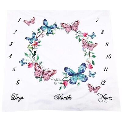 Newborn Photography Packing, Baby Props Printed Cotton Monthly Milestone Wr X0V4