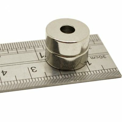 5 Disk Hole 7mm x 4mm With 2mm Hole Small Round Neodymium Ring Disc Magnets