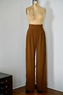 Xiao Studio High Waisted Bronze Brown Pants M, Totokaelo, MNZ