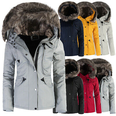 P073 Damen Winter Mantel Jacke Steppjacke Parka Jacket Daunen Look  Winterjacke 5c2c2036fc