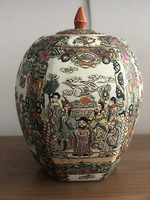 Rare CHINESE PORCELAIN W/ ANCIENT WRITING - VERY DETAILED Famille Rose Time