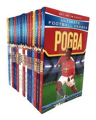 Ultimate Football Heroes Series 1 & 2 - 16 Books Set Collection, Pogba, Bale ...