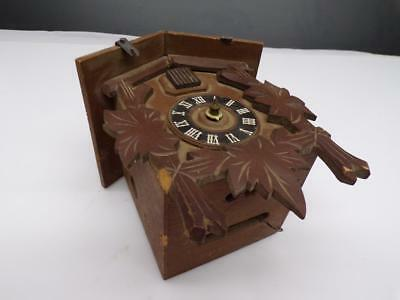 Unsigned German Black Forest Cuckoo Clock with Brass Movement Parts E219