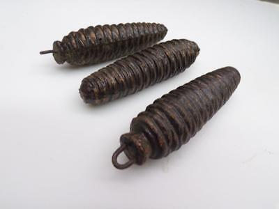 "4-1/4"" Vintage  Matched Cuckoo Clock Pine Cone Weights .60lb each E1020c"