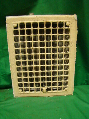 Vintage 1920S Iron Heating Grate Rectangular 14 X 11  Fh