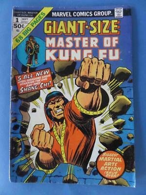 Master Of Kung Fu Giant Size 1 1974 Gulacy! Yellow Claw Ga Rpt!