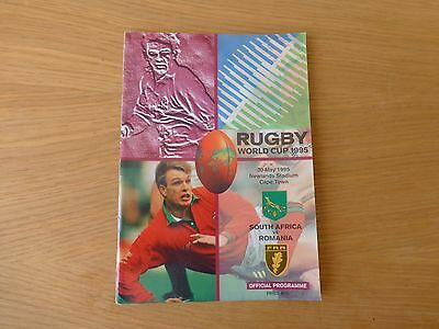 1995 Rugby World Cup programme South Africa v Romania