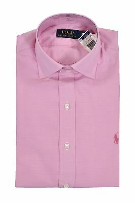 POLO RALPH LAUREN hommes Mens Chemise slim fit pink white rose size ... a96aecb1719
