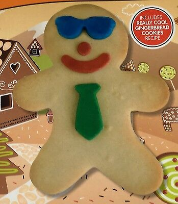 Festive Gingerbread Boy Biscuit Cookie Cutter Set Children Baking Kitchen Gift