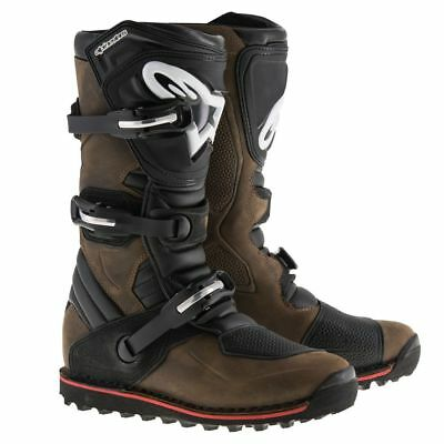 Alpinestars Tech-T Trials Off Road Motorcycle Boots - Brown