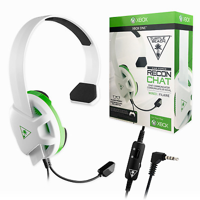 Turtle Beach Recon Chat Headset Xbox One / In-line Volume Control Mic Mute Black