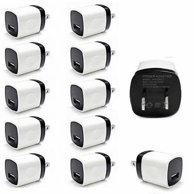 3/10PC USB Wall Charger Power Adapter AC Home US Plug For iPhone X 8 7 6 Samsung