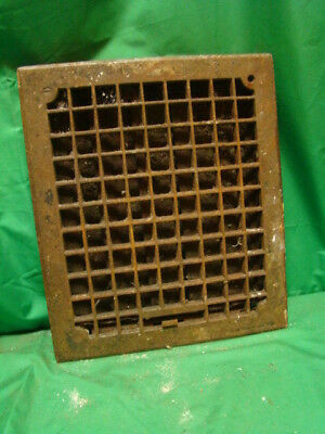 Vintage 1920S Cast Iron Heating Grate Square Design 14 X 12 Ds