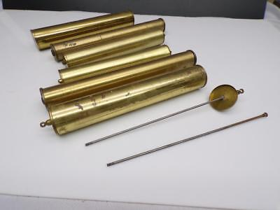 Lot of Various Sizes Grandfather Clock Brass Movement Weight Shells  F197