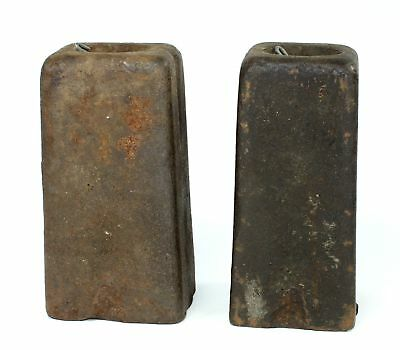 PAIR of ANTIQUE AMERICAN 8 DAY WEIGHT DRIVEN CLOCK WEIGHTS DH229