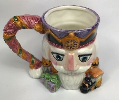 Nutcracker Christmas Coffee Mug Cup Tis The Season CIC Ceramic No Lid Excellent