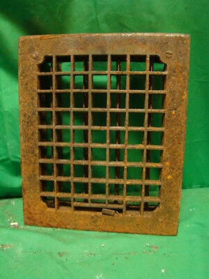 Vintage 1920S Cast Iron Heating Grate Square Design 11.75 X 9.75 Sdf