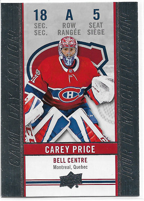 2018-19 18/19 Upper Deck Tim Hortons Game Day Action GDA-5 Carey Price