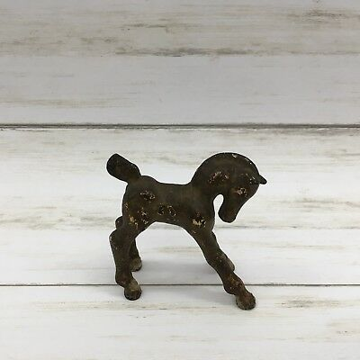 Vintage Cast Iron Foal Colt Baby Horse Toy Figurine