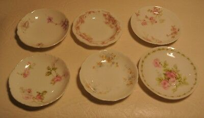 Lot of 6 Floral Limoges Butter Pats