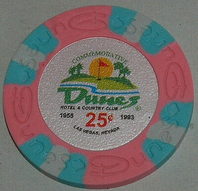 DUNES Casino $0.25 Commemorative Chip, Las Vegas, NV. Uncirculated. Obsoleted