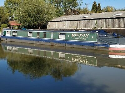 Narrowboat Medway 69ft live aboard design ready to sail away