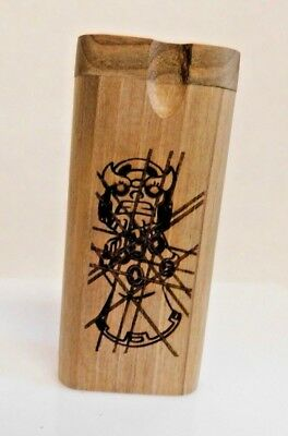 Etched Wooden Dugout with Metal Bat