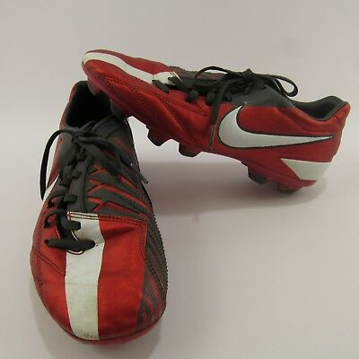 5f68422cf94 Nike Total T90 Soccer Cleats Men s Size 7 Red Athletic Spikes Shoes 472547- 610