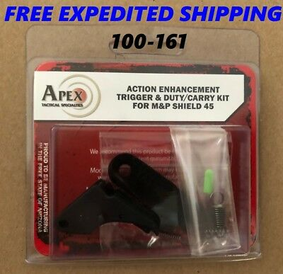 Apex Tactical For S&W M&P Shield .45 Aluminum Trigger & Duty/Carry Kit - 100-161
