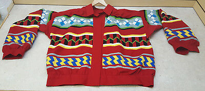 Great Condition 2Xl 3 Pattern Seminole Patchwork Native American Indian Jacket!!