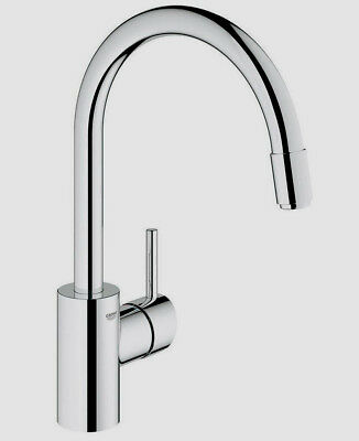 Grohe 32665001 Concetto Collection Dual Spray Pull Out Kitchen Faucet,  Chrome