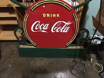 Vintage Strong Cast Iron Coca Cola Advertising Sign