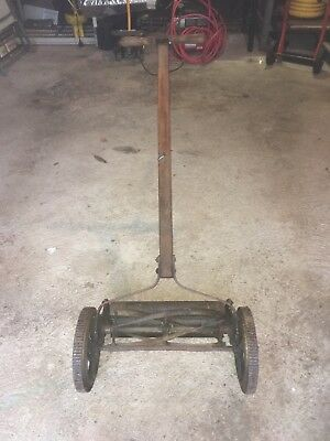 VINTAGE ANTIQUE Rotary Reel Push Great State Ball Bearing Lawn Grass Mower