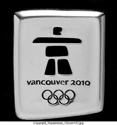 Olympic Pins 2010 Vancouver Canada 3D Silver Inukshuk
