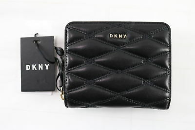 NWT $110 DKNY Quilted Leather Black Small Carryall Purse/Wallet