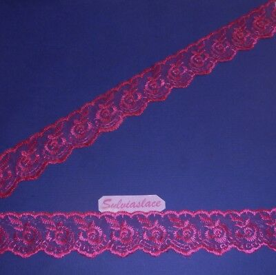 4  Metres   Of  Hot pink    Ribbon Lace        4 cm  Wide