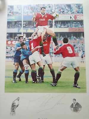 Awesome. Signed Martin Johnson British And Irish Lions Rugby Print- Leicester